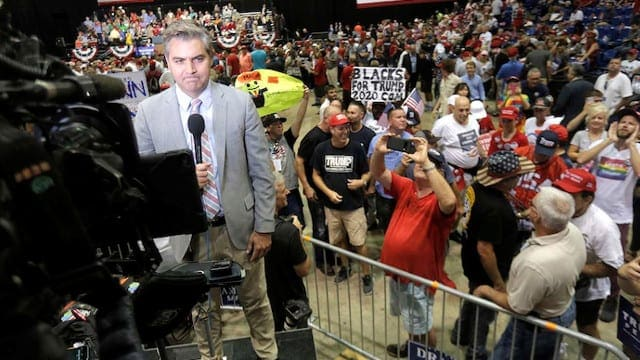 jim acosta heckled while at florida rally