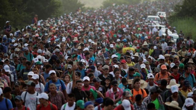 """The headline shouted """"Migrant Caravan Could Save GOP"""""""