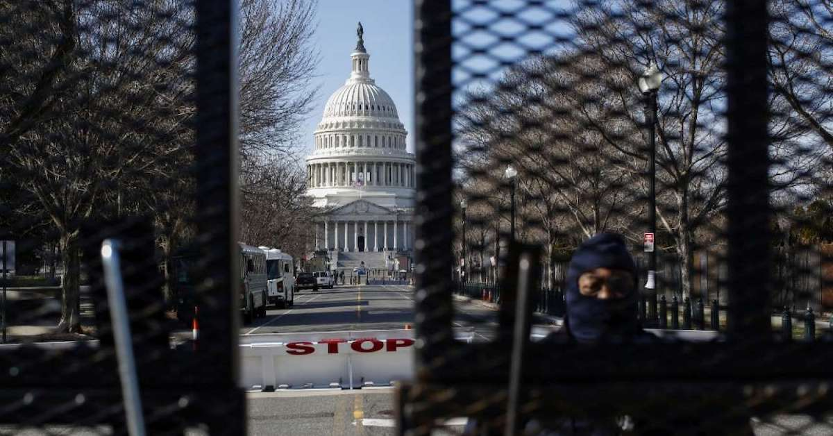 National Capitol Inaugural Lockdown Terrifying Implications