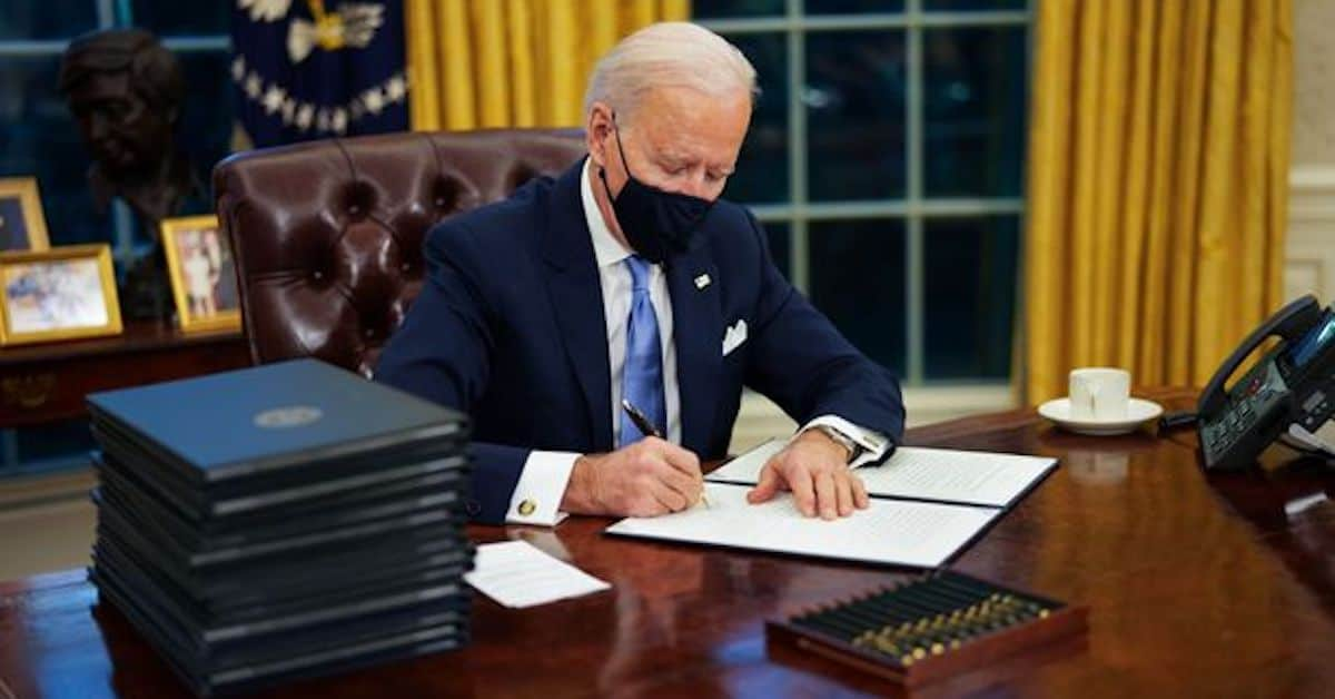 Biden's First Executive Orders Harm America