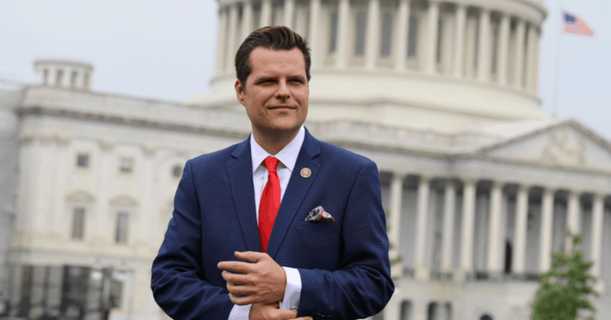 How NOT to be a Target of the Left. Hint: Don't 'Like' Matt Gaetz